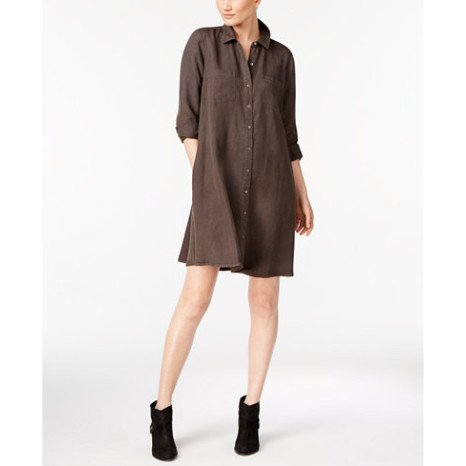 Eileen Fisher Eileen Fisher Classic Collar Shirt Dress