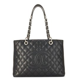 Chanel Chanel Black Caviar Grand Shopping Tote