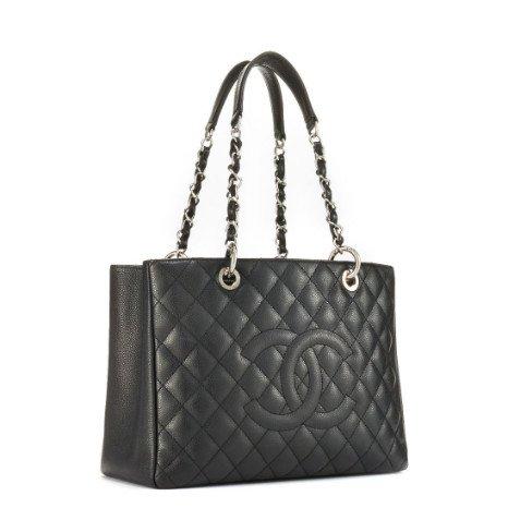 Chanel Chanel Black Caviar Grand Shopping Tote