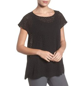 Eileen Fisher Eileen Fisher Ballet Neck Cap Sleeve Laser Top