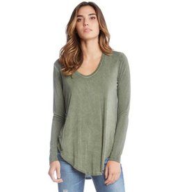 Fifteen Twenty Fifteen Twenty Long Sleeve Shirttail Tee