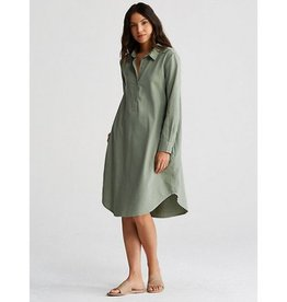 Eileen Fisher Eileen Fisher Classic Collar Henley K/L Shirt Dress