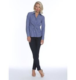 Donna Degnan Donna Degnan Striped Twist Front Button Down