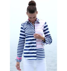 Dizzy Lizzie Rome Shirt Mixed Stripes