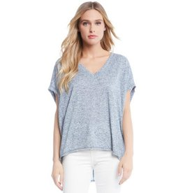 Fifteen Twenty Fifteen Twenty Raw Hem V Neck Top