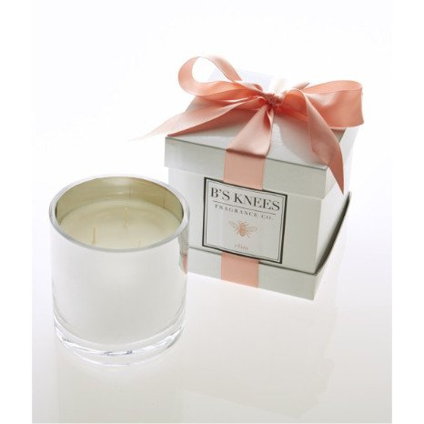 B's Knees Fragrance Co. B's Knees Eliza 3-Wick White Candle