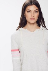 Mother Mother Square Tear Striped Hoodie