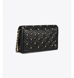 Tory Burch Tory Burch Fleming Stud Flat Wallet Crossbody