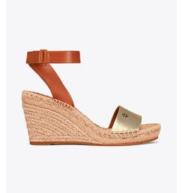Tory Burch Tory Burch Bima Metallic Wedge Espadrille