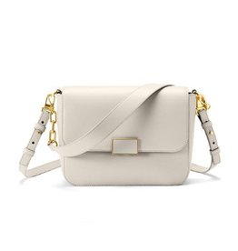 Sarah White Double Strap Shoulder Bag