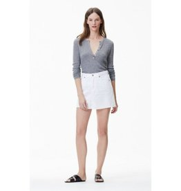 Citizens of Humanity Citizens of Humanity Distressed White Cut Off Mini Skirt