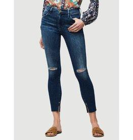 Frame Frame Skinny Raw Edge Slit Rivet Jean