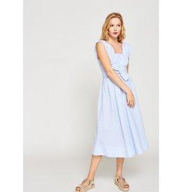 Tara Jarmon Tara Jarmon Long Belted Seersucker Dress