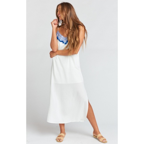 Show Me Your Mumu Show Me Your Mumu Angie Embroidered Slip Dress