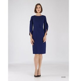 Bigio Bigio Creepe Dress Tulip Sleeve