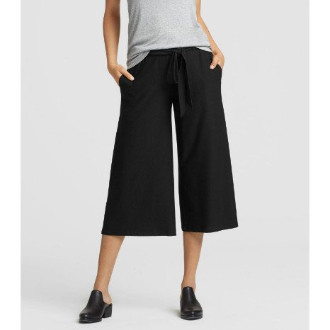 Eileen Fisher Eileen Fisher Lightweight Washable Stretch Wide Cropped Pant