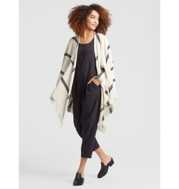 Eileen Fisher Eileen Fisher Organic Cotton Double Strip Poncho