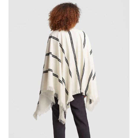 Eileen Fisher Eileen Fisher Organic Cotton Double Strip Poncho