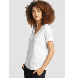 Eileen Fisher Eileen Fisher Slubby Organic Cotton Jersey V-Neck Tee