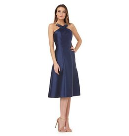 Kay Unger Kay Unger Fit & Flare Halter Dress