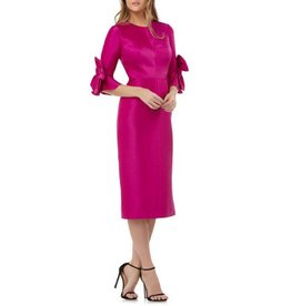 Kay Unger Kay Unger Bow Sleeve Mikado Dress