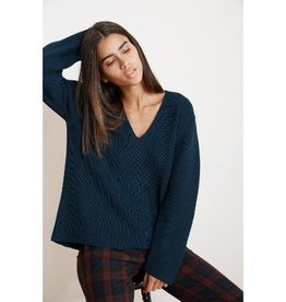 Velvet Velvet Tayen Engineered Stitches V-Neck Sweater