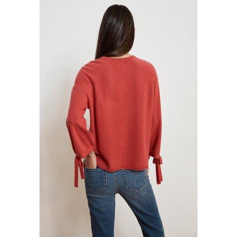 Velvet Velvet Nicolette Cashmere Tie Sleeve Sweater