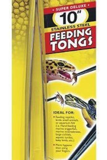 """Zoomed Pince à nourrir en métal 10"""" - Metal feeding tongs"""