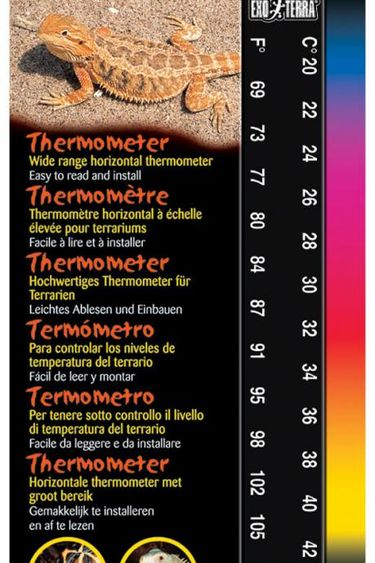 Exoterra Thermometre a large echelle