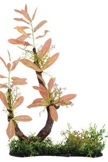 Treasures underwater Branche avec décoration d'herbe mélangée 17 po