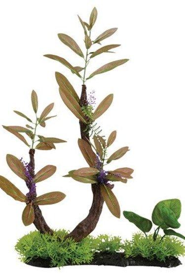 Treasures underwater Branche avec herbe à feuilles brunes - 17 po