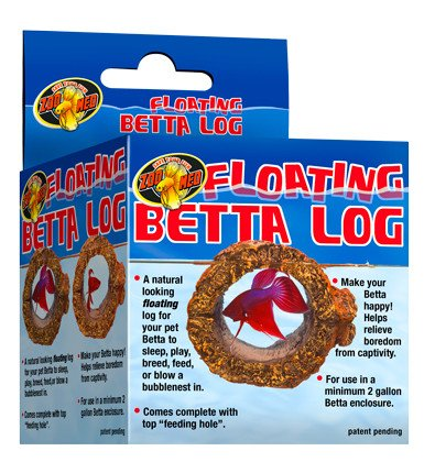 Zoomed Buche flottante pour betta - Floating Betta Log