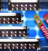 "Zoomed Rampe d'éclairage "" ReptiSun "" DEL et UVB - LED UVB Terrarium Hood"