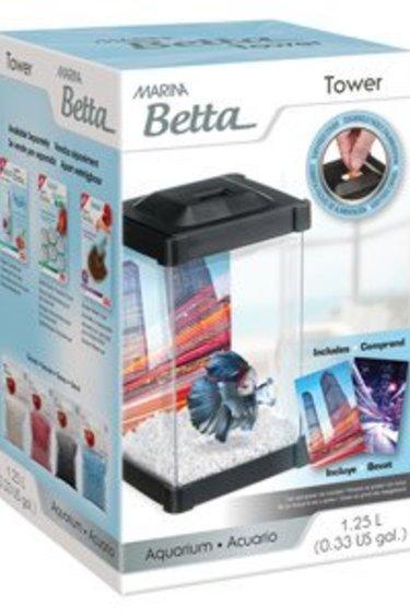 Marina Aquarium en forme de tour pour betta