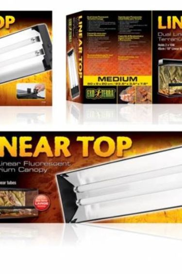 Exoterra Couvercle 2 tubes fluorescents