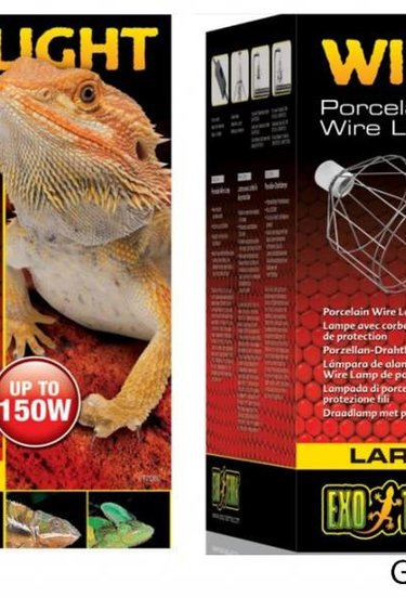 Exoterra Lampe à pince douille en porcelaine - Wire light