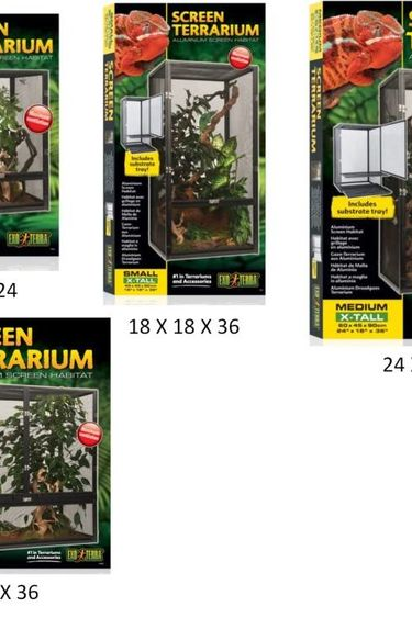 Exoterra Terrarium grillage en aluminium