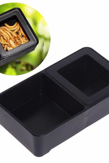 Magazoo Plat d'alimentation double - eau et vers - Dual water worm feeding dish