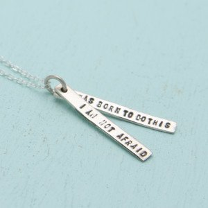 Chocolate and Steel Quotes Joan of Arc - Silver