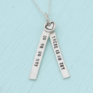 Chocolate and Steel Quotes - Yoda Necklace