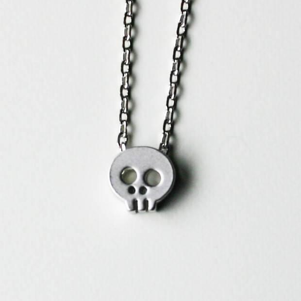 Rebecca Skull Necklace - Silver