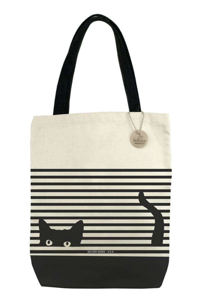 Seltzer Book Tote - Cat Stripes