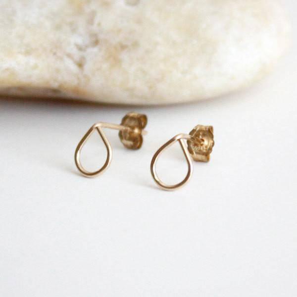Hooks & Luxe Teardrop Stud Earrings