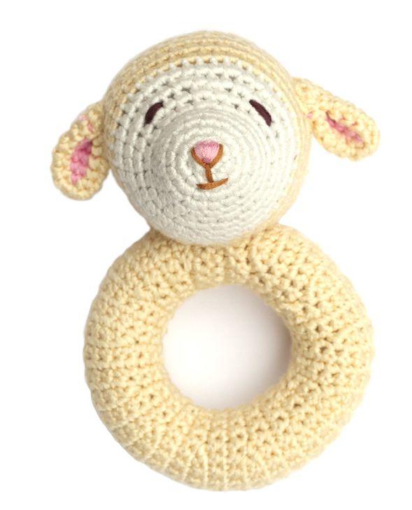 Cheengoo Ring Rattle - Lamb