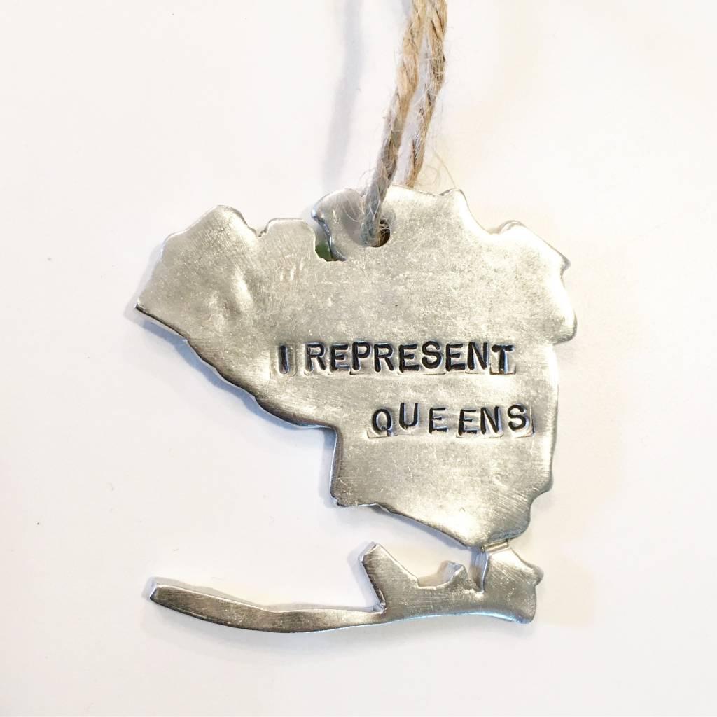 """f is for frank """"I Represent Queens"""" Ornament"""