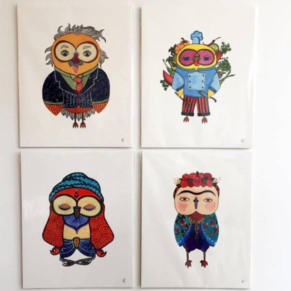 Eve Devore Yogi Sage Owl Print 8x10