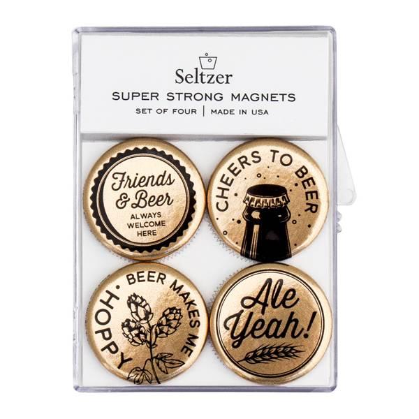 Seltzer Magnet Set - Beer Gold