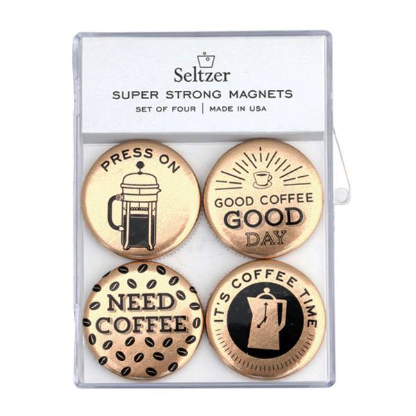 Seltzer Magnet Set - Coffee Gold