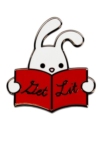 Seltzer Enamel Pin - Reading Rabbit