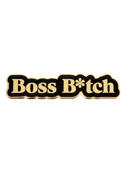 Seltzer Enamel Pin - Boss Bitch